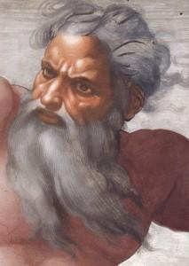 Bůh Stvořitel podle Michelangela